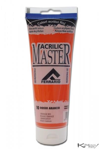 Ferrario Acrilic Master Acrylfarbe, 250 ml, Orangerot