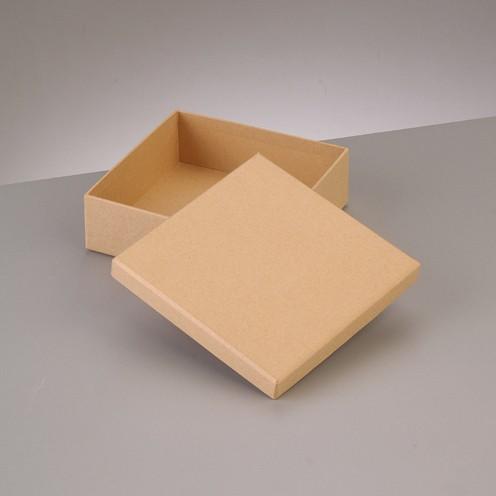 Box, Quadrat, aus Pappmaché, 12,5 x 12,5 x H 7 cm