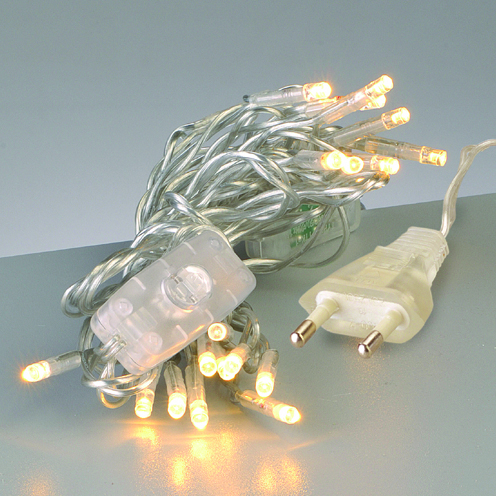 20er led lichterkette strang mit schalter transparent kreativ depot. Black Bedroom Furniture Sets. Home Design Ideas
