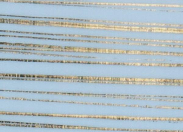 Verzierwachsplatte, gold gestreift, 200x100x0,5mm, hellblau