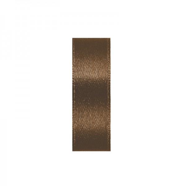 Satinband, doppelseitig, Länge 10 m, Breite 10 mm, hellbraun