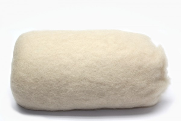 Merino-Filzwolle, im Vlies, 50 g, Creme