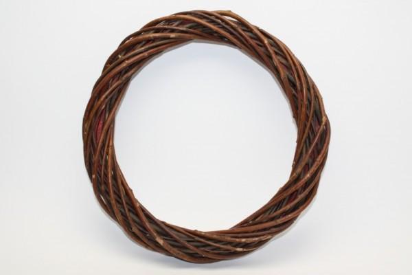 Weidenkranz, dunkel, Ø 25 cm, Stärke ca. 3 cm