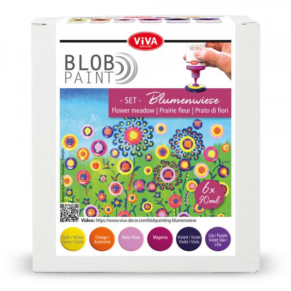 Blob Paint FarbSet Blumenwiese, 6 tlg. 6 x 90 ml
