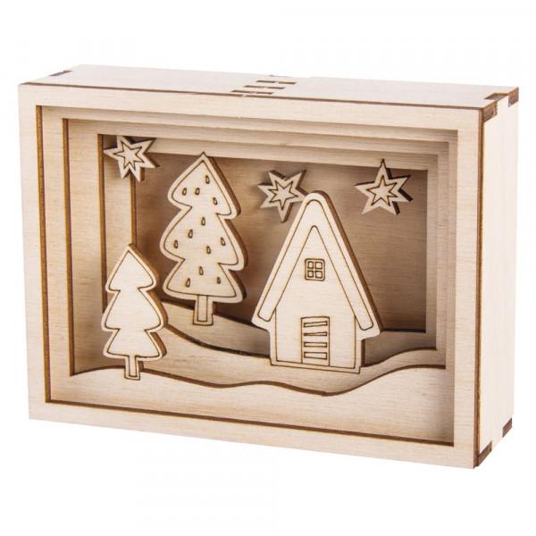 Holzbausatz 3D-Motivrahmen Mini, 11,5x8,5x3,2cm
