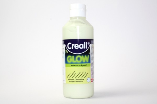 Creall-glow, Nachtleuchtfarbe, 250 ml, grün/gelb