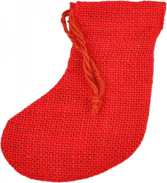 Jute-Socken, 6x12 cm, rot