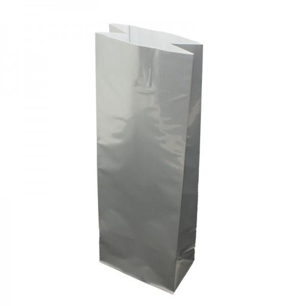 24 x Teetüte / Blockbodenbeutel - silber glänzend