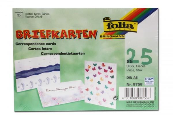 Briefkarten, 25 Stück, DIN A6, weiß
