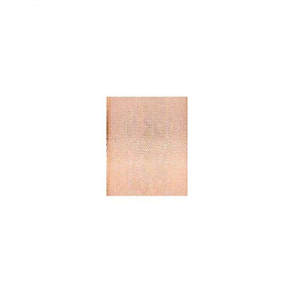 Chiffonband mit Drahtkante, 25mm breit, 5m lang - kupfer