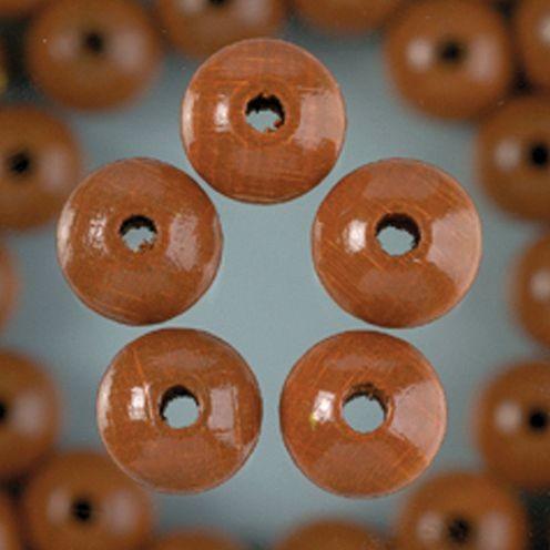 Holzperlen 6mm, 110 Stück - hellbraun