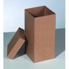 Box Quadrat aus Pappmaché, 9,5 x 9,5 x 20 cm