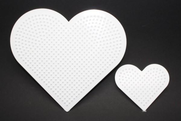 Photo Pearls® Legeplatte, 1 x Herz 16 cm, 1 x Herz 8 cm