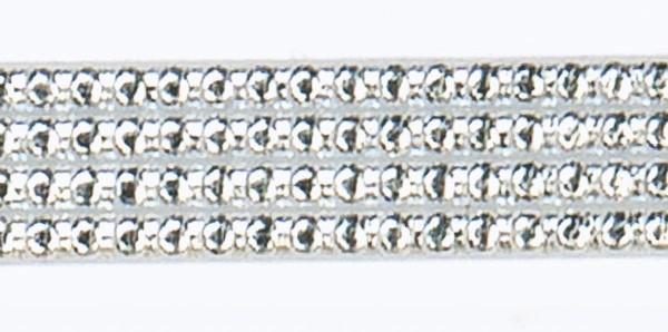 Wachsperlstreifen, 2mm, 20cm, 7 Stk., silber
