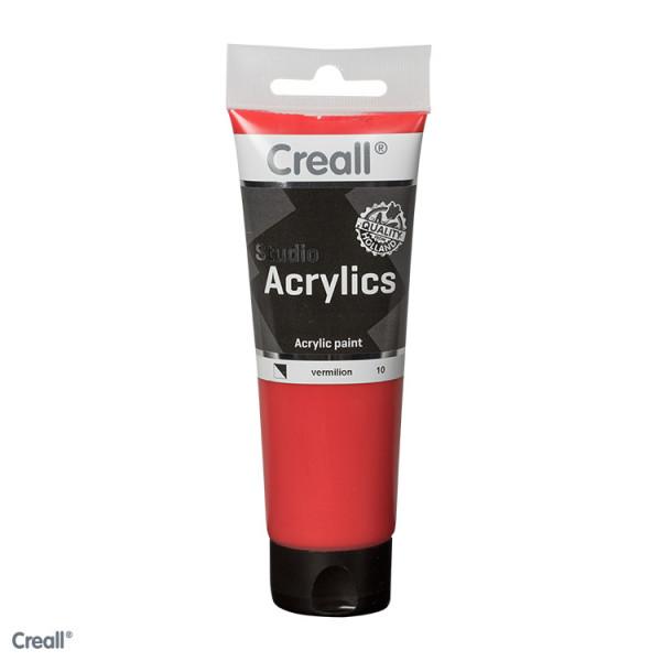Creall-studio Acrylfarbe, 120 ml, Zinnoberrot
