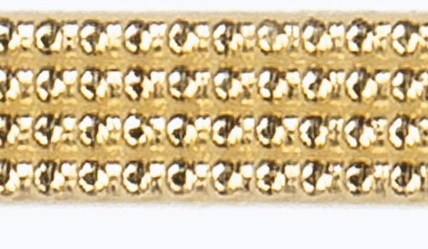 Wachsperlstreifen, 2mm, 20cm, 108 Stk., gold