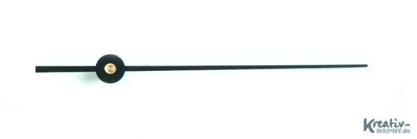 Sekundenzeiger, aus Metall, schwarz, 100 mm