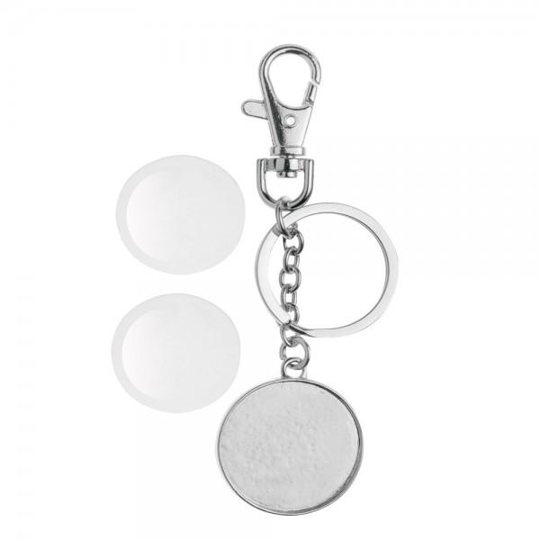Cabochon + Schlüsselanhänger, rund ⌀ 32 mm - doppelseitig