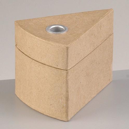 Box Tortenstück mit Alueinsatz, 10,5 x 8 x 8 cm