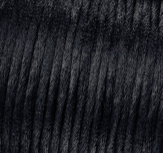 Satin Flechtkordel, Länge 6 m, Stärke 2 mm, schwarz