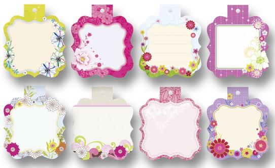 Geschenkanhänger Mini Cutties, 8 Stück, Blumen