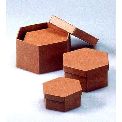 Boxen-Set Sechseck, aus Pappmaché, 3-teilig