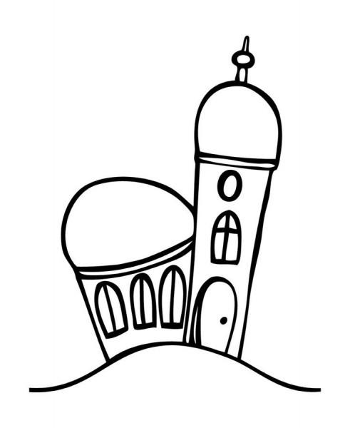 Stempel Kirche klein 44x55mm