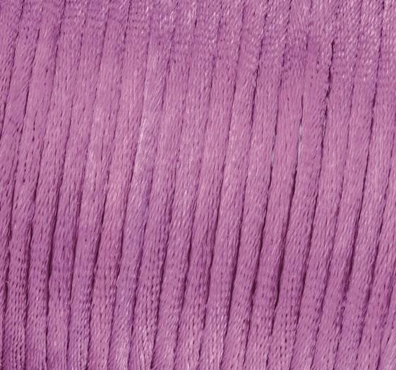 Satin Flechtkordel, Länge 6 m, Stärke 2 mm, violett