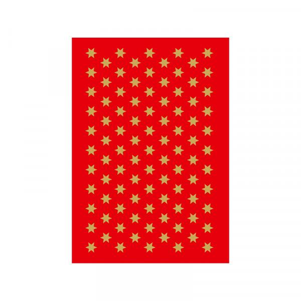Sticker Sterne, Ø 6 mm, gold