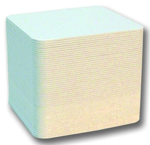 Bierfilze/Bierdeckel, unbedruckt, weiß, 9,3 x 9,3 cm, 100 Stück