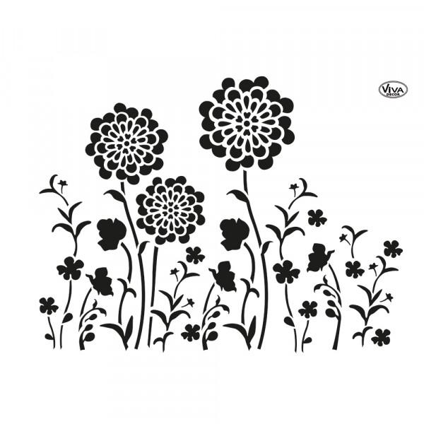 Universal-Schablone A3 Blob Paint Blumenwiese