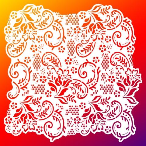 Viva Decor Hintergrund-Schablone Spitze, 29 x 29 cm