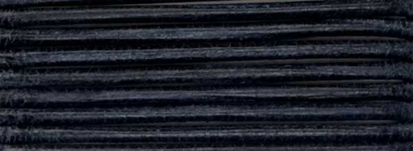 Lederriemen, 0,5 mm Ø - 50 m, auf Rolle, Ziegenleder, schwarz