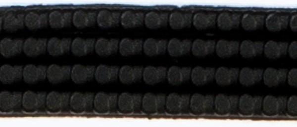 Wachsperlstreifen, 2mm, 20cm, 11 Stk., schwarz