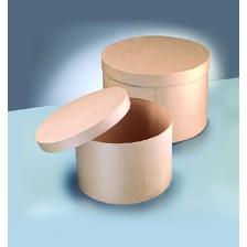 Boxen-Set Hutschachtel, aus Pappmaché, 2-teilig