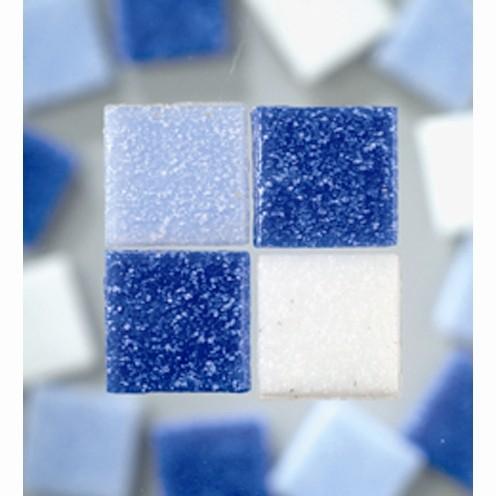 Efco Mosaik Glasstein pro, 20 x 20 mm, blaumix