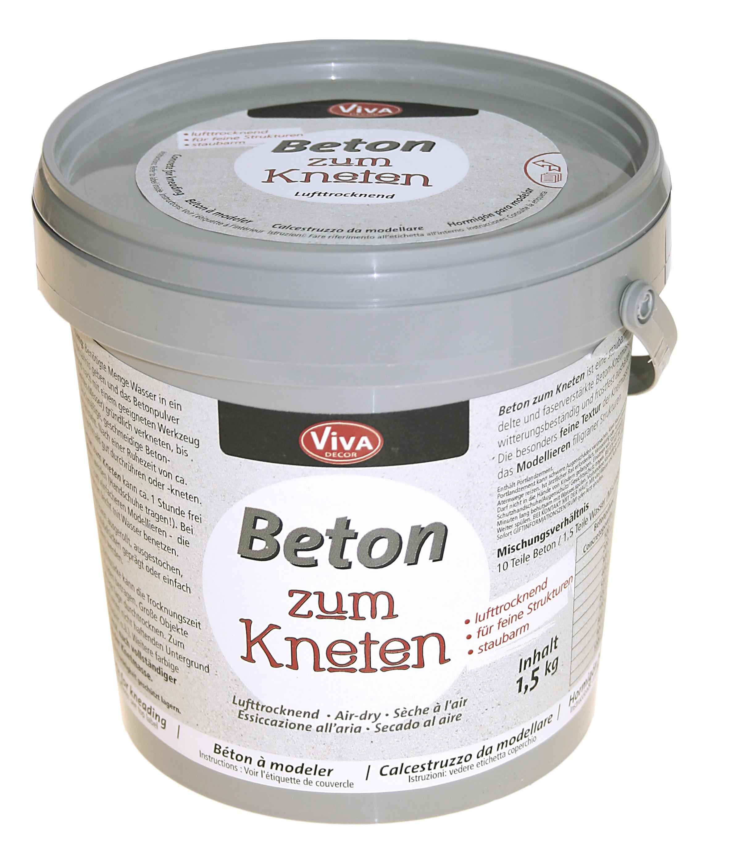 beton zum kneten - 1,5kg | kreativ-depot