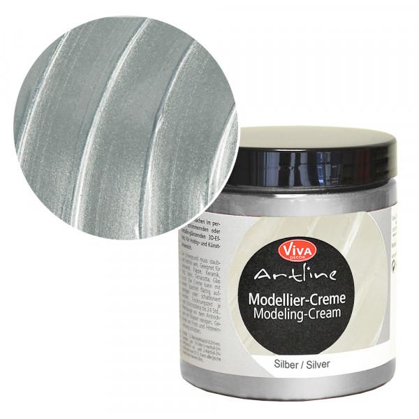 Viva Decor Modellier-Creme, 250 ml, Silber