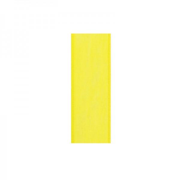 Chiffonband, 6mm breit, 10m lang - zitronengelb
