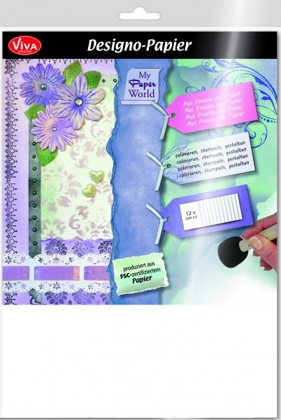 Viva Decor Designo-Papier, 240 g/m², 12 Blatt, DIN A4