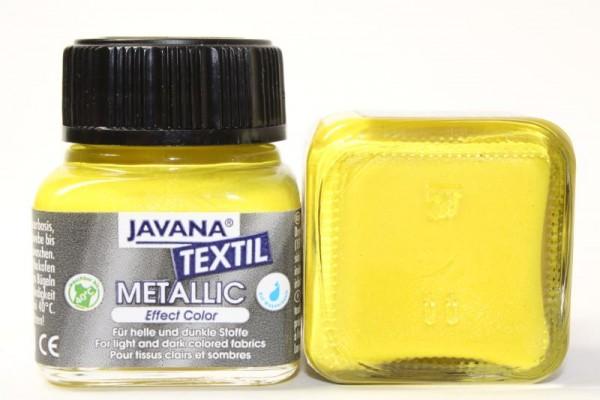 JAVANA TEXTIL METALLIC, 20 ml, Metallic-Sonnengelb