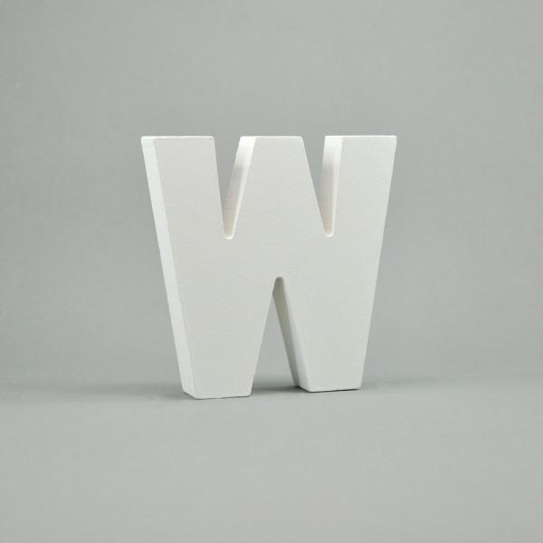 """MDF- Buchstaben """"W"""", weiß"""