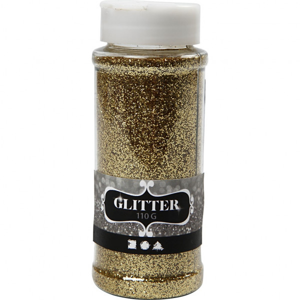 Glitter, 110 g, gold