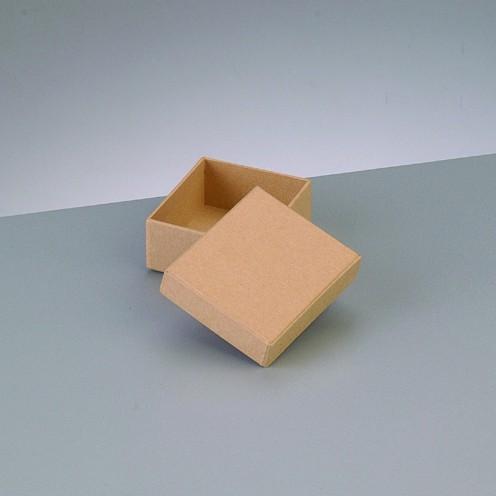 Box Rechteck, aus Pappmaché, 6,5 x 5,5 x 2,7 cm