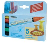 GLASS COLOR PEN 5er Set