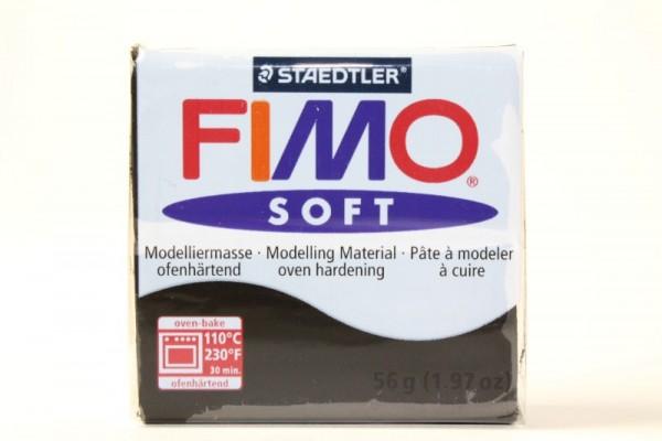 FIMO soft, Modelliermasse, 56 g, Schwarz