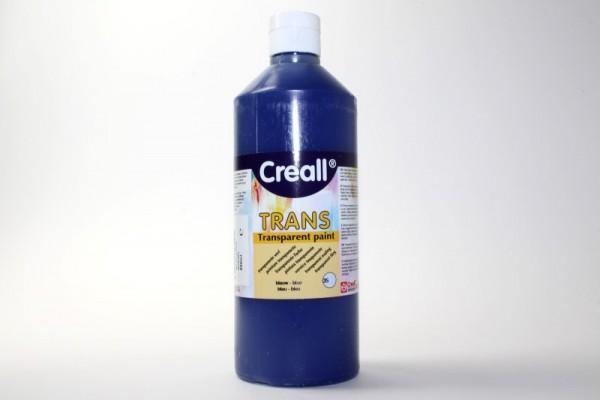 Creall-trans, transparente Farbe, 500 ml, blau