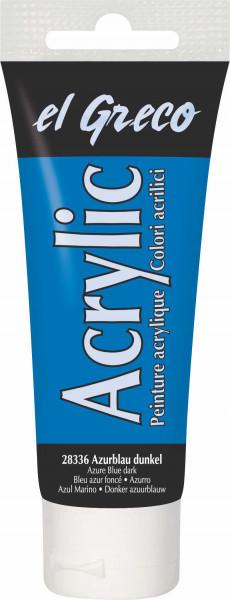 Acrylfarbe el Greco Acrylic, 75 ml - Azureblau dunkel
