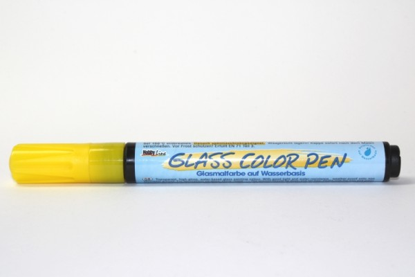 Hobby Line GLASS COLOR Pen, Gelb