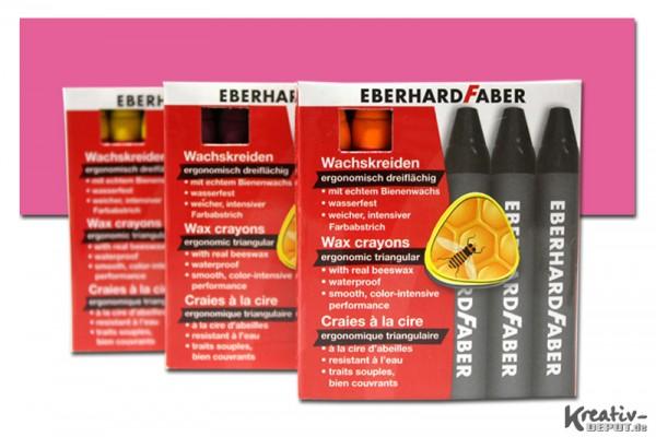 EBERHARD FABER Wachsmalkreiden, 12 Stück, fleischfarbe dunkel